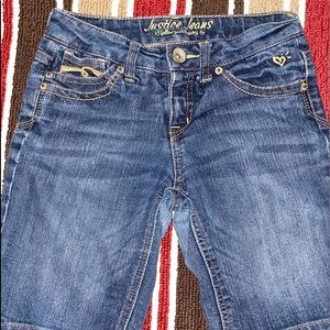 Justice Blue Jean Shorts   Nice Condition